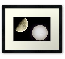 Two Great Lights. Framed Print