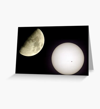 Two Great Lights. Greeting Card
