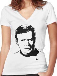 William Shatner Star Trek Women's Fitted V-Neck T-Shirt