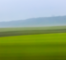 Motion blurred green landscape abstract Sticker