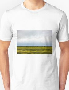 Motion blurred green landscape abstract Unisex T-Shirt