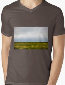 Motion blurred green landscape abstract Mens V-Neck T-Shirt