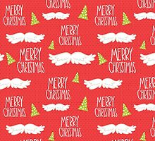Merry Christmas Mustache Pattern by sale