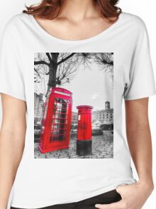Red Post Box Phone box London Women's Relaxed Fit T-Shirt
