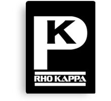 Rho Kappa Shirt Logo 1 Canvas Print