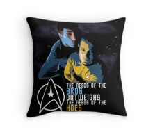 Kirk and Spock Throw Pillow