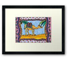 Crazy camel Framed Print