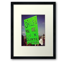 Inspirational Electric Forest Quote Framed Print