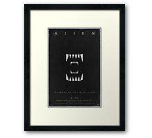 A L I E N Framed Print