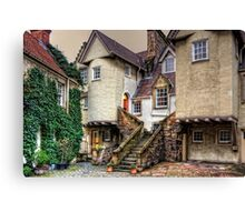 Steps in White Horse Close Canvas Print