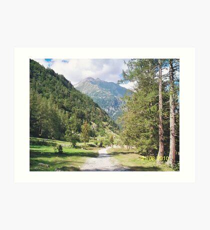 Una passeggiata sul Monte Rosa Macugnaga ItalIA -2000 VISUALIZ. GENNAIO 2015 - VETRINA RB EXPLORE 9 OTTOBRE 2012 Art Print