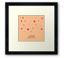 card with roses  on Valentine's Day Framed Print