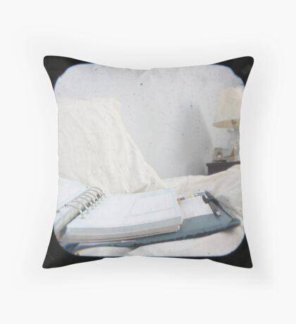 Planning the Day Throw Pillow