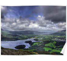 derwent water and bassenthwaite lake Poster