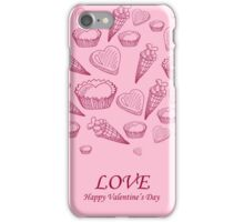 Card with sweet-stuff  on the Day of St. Valentine iPhone Case/Skin