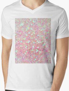 Shiny Hearts Mens V-Neck T-Shirt