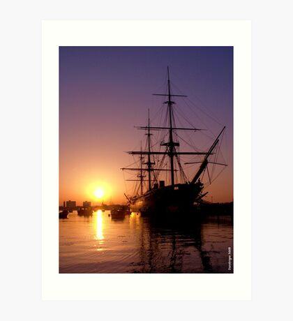HMS Warrior 2008 Art Print