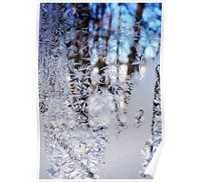 Frosted Window Landscape Poster