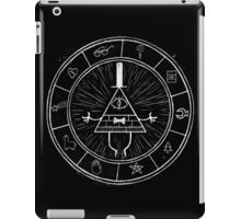 Gravity Falls Bill Cipher - White on Black iPad Case/Skin