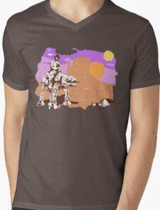 Cowboy Chuck Norris Mens V-Neck T-Shirt