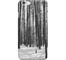 Winter Trees, Black and White iPhone Case/Skin