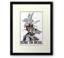 Time to duel! Framed Print