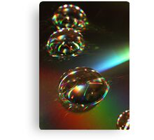 day 29: glycerine drops on cd abstract Canvas Print