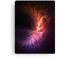abstract shiny fire colorful rays on dark background Canvas Print