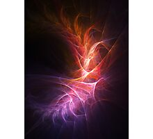 abstract shiny fire colorful rays on dark background Photographic Print