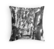 Tree Path - Infra Red Throw Pillow