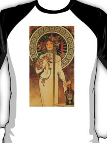 'La Trappistine' by Alphonse Mucha (Reproduction) T-Shirt