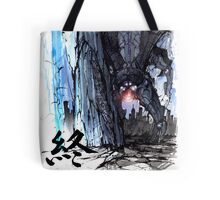 Reaper from Mass Effect with calligraphy Tote Bag