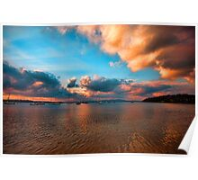 Sunset Over Port Stephens Poster