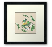 """""""Ancient Wings"""" Quetzalcoatl Feathered Dragon Framed Print"""