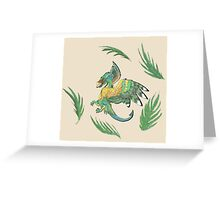 """""""Ancient Wings"""" Quetzalcoatl Feathered Dragon Greeting Card"""