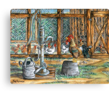 The Escapee..He Flew The Coop Canvas Print
