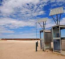 Solar powered phoneboxes outback by Speedy