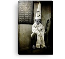 I Will Not Waste Chalk Canvas Print