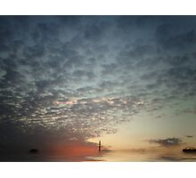 Sunset with a difference Photographic Print