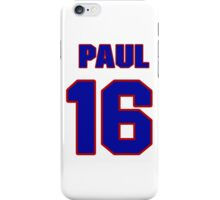 National football player Paul Justin jersey 16 iPhone Case/Skin