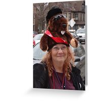 Now that's a hat! Greeting Card