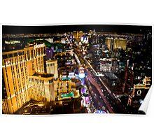 Las Vegas strip by night Poster
