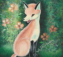 The Pretty Red Fox (Card) by AngelArtiste