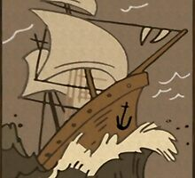 Dipper's Clipper Ship Picture (unframed) by The-Sqoou