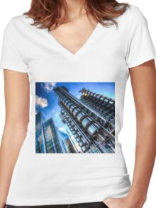 Lloyd's And Willis Group London Women's Fitted V-Neck T-Shirt