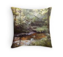Abstract of forest glade Throw Pillow