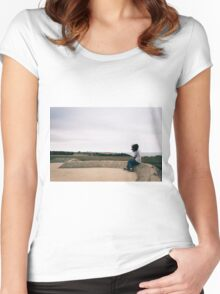 Lonely girl Women's Fitted Scoop T-Shirt