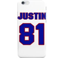 National football player Justin Peelle jersey 81 iPhone Case/Skin