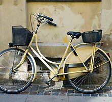 Yellow Bicycle in Copenhagen, Denmark by Catherine Sherman