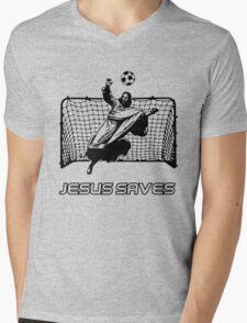 Jesus Saves Mens V-Neck T-Shirt